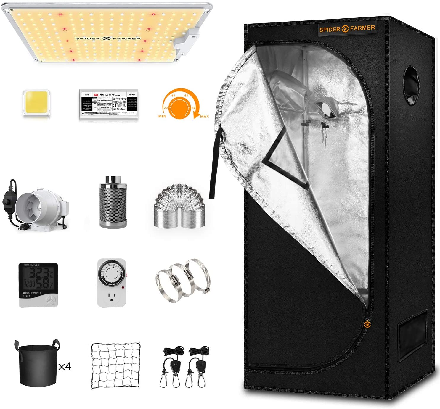 Spider Farmer Grow Tent Kit Complete SF-1000