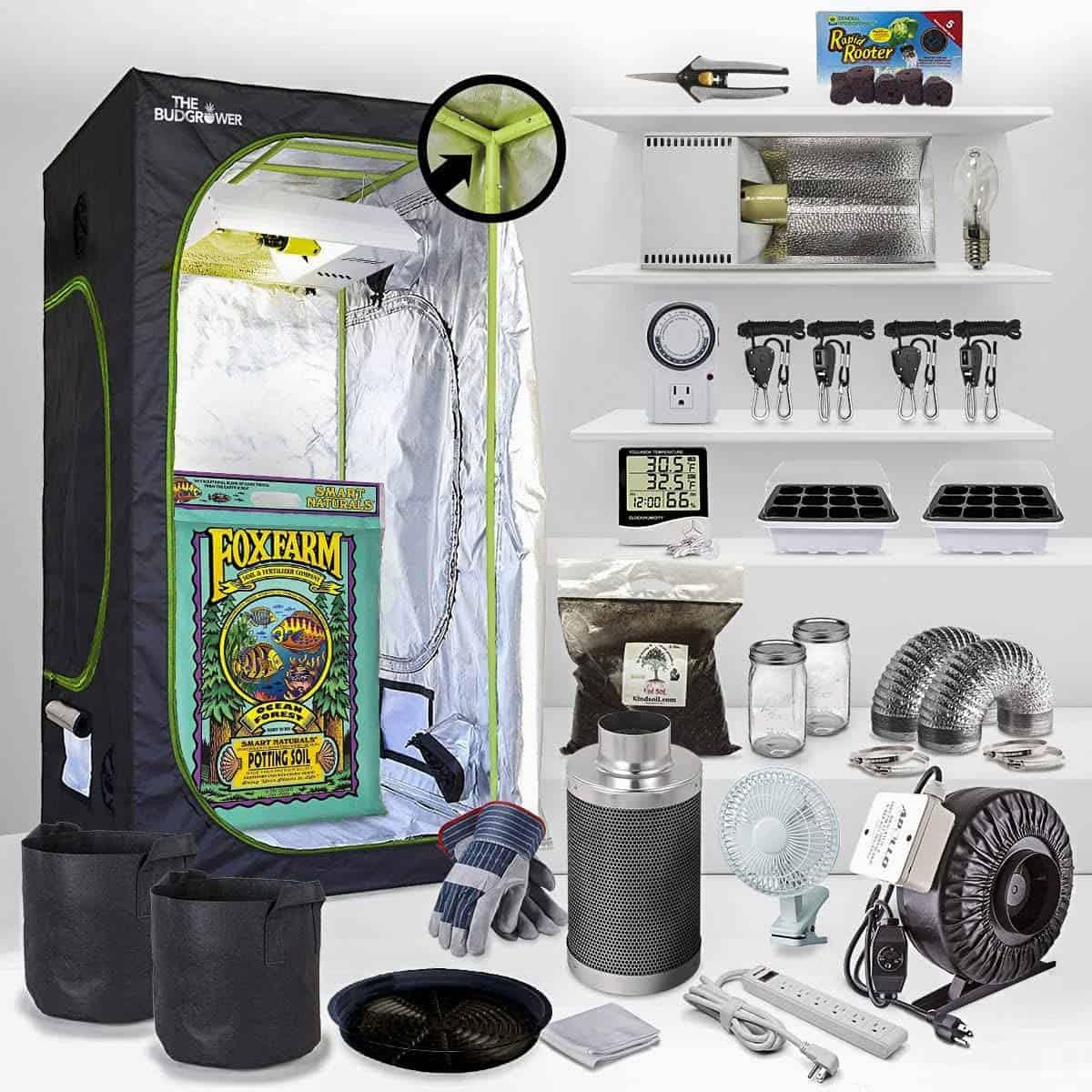 The Bud Grower Complete Indoor Grow Kit