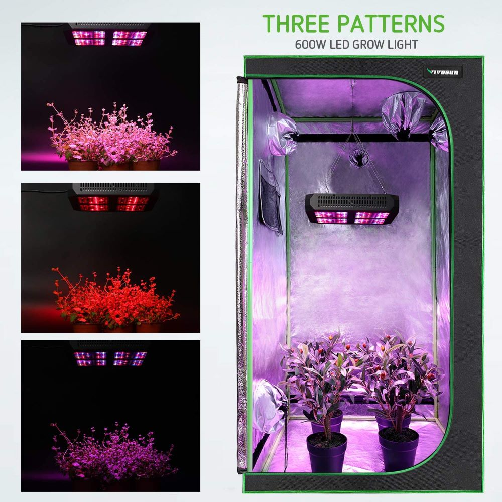 VivoSun 4x4 hydroponic grow tent including grow light