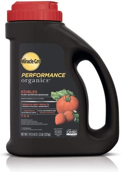 Miracle-Gro Performance Organics Edibles Plant Nutrition Granules