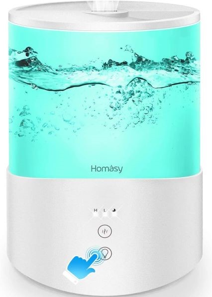 Homasy ColorMist Cool Mist Humidifier